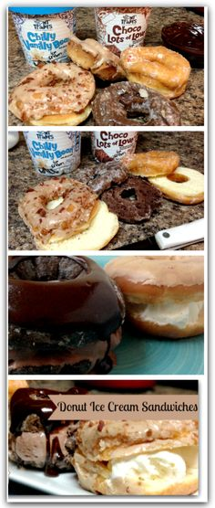 Donut Ice Cream Sandwiches | Oh Yes!! #desserts #donuts #delish - http://www.savingeveryday.net/2013/12/donut-ice-cream-sandwiches-oh-yes/