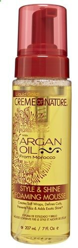 Hair Mousse - Creme of Nature with Argan Oil Style and Shine Foaming Mousse