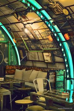 The 6th Sense Interiors have completed Submarine Pub, located in Cluj Napoca, Romania. 6th Sense Interiors come up with the idea of a themed pub meant to faithfully render the interior of a submarine.           See more at HomeWorldDesign