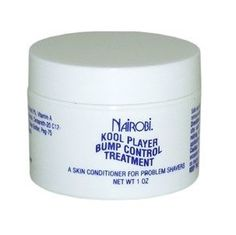 Nairobi Kool Player Bump Control Treatment 1 oz $4.95    Visit www.BarberSalon.com One stop shopping for Professional Barber Supplies, Salon Supplies, Hair & Wigs, Professional Products. GUARANTEE LOW PRICES!!! #barbersupply #barbersupplies #salonsupply #salonsupplies #beautysupply #beautysupplies #hair #wig #deal #promotion #sale #nairobi #koolplayer #bumpcontrol #treatment