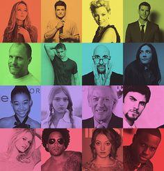 Katniss, Peeta, Effie, Gale, Haymitch, Cato, Ceaser, Clove, Rue, Prim, President Snow, Seneca, Glimmer, Cinna, Foxface, Thresh