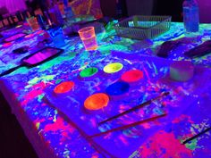Glow in the dark/black light party #BlankExtremeEntertainment http://blankextremeentertainment.com/