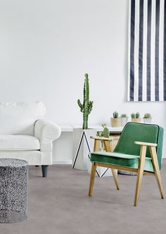 Ideal for anywhere in the home, by Gerflor is a tough with a unique patented textile backing system that gives higher warmth and comfort underfoot, and is safer, quieter and more hygienic than standard vinyl flooring! Wall Finishes, Vinyl Flooring, Shades Of Green, Accent Chairs, Modern Design, Textiles, Indoor, Unique, Furniture