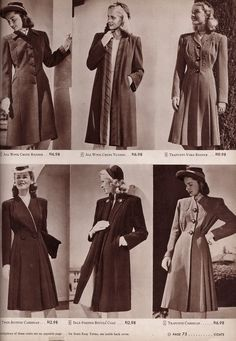 Timelessly beautiful 1940s coats.