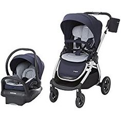 Maxi-Cosi Adorra Travel System with Mico Max 30 Infant Car Seat, Brilliant Navy Blue