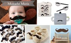 Mustaches for the babies! - this is both you Millers