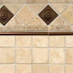 Chiaro Travertine And Copper Metal Backsplash Tile | MSI