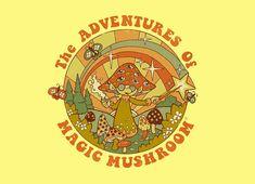 Magic Mushroom Art Print by Steven Rhodes - X-Small Photo Wall Collage, Collage Art, Hippie Vintage, Typographie Logo, Arte Peculiar, Arte Indie, Plakat Design, Images Esthétiques, Hippie Wallpaper