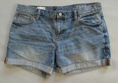"GAP Denim Shorts 31 12 Sexy Boyfriend Calvind Distress Light Frayed Jean 5"" 2014 #GAP #Denim"
