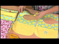 DIY Reversible Baby Bibs Tutorial | How to Make Lots: for Cheap! - YouTube