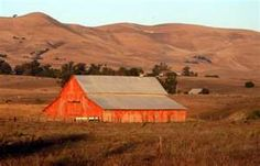 Image detail for -Red barn, taken at dusk, just north of Santa Maria, CA , along the ...