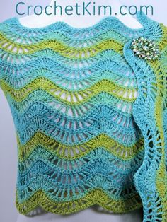 Malibu Fling Wrap Shawl | free crochet pattern at CrochetKim.com