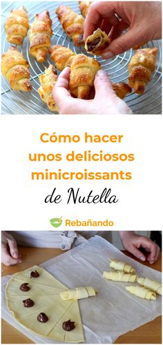 How to make some delicious Nutella minicroissants recipes Nutella Mini, Nutella Croissant, Nutella Muffins, Croissant Recipe, Nutella Cookies, Berry Smoothie Recipe, Easy Smoothie Recipes, Churros, Original Fantasy Fudge Recipe