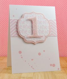 Glitter number die or could also do letter.  Easy with Cricut