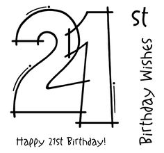 Woodware FRS131 21st Birthday Clear Magic Single Stamp