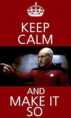 Keep Calm and Make It So  #StarTrek #TNG #CaptainPicard
