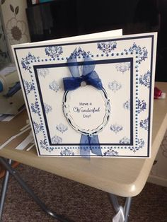 Card made at Phill Martin's class, using his Sentimentally Yours stamps and distress inks