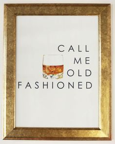 The Call Me Old Fashioned print is a Katie Kime best-seller. Add it to your gallery wall or give the perfect gift to your favorite cocktail aficionado. Also available in a Canvas. Frame not included.