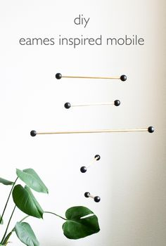 DIY Eames Inspired Mobile | click through for the full tutorial!