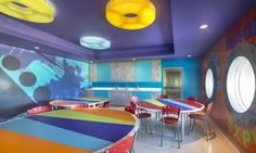 Coral KidZ Club Cancun - Arts & Crafts Area | Designed by Launch by Design Inc.