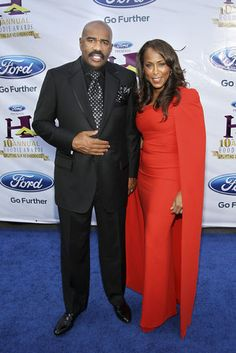 Steve and Majorie Harvey at the 10th Annual Ford Hoodie Awards   Essence.com