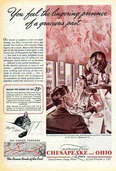 Chesapeake & Ohio Railroad 1940 Ad
