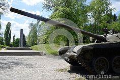Polish tank at a warfare museum at the Citadel park in Poznan, Poland