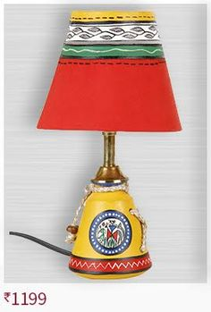 vareesha-yellow-warli-small-lamp