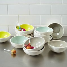 Spring Easter Decor Ideas with Luxurious Utensils: Glazed Prep Bowls