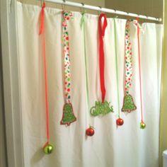 Christmas Bathroom Decors That Are Pleasant & Refreshing - Ethinify Christmas Shower Curtains, Christmas Bathroom Decor, Christmas Towels, Farmhouse Christmas Decor, Cozy Christmas, Beautiful Christmas, Christmas Holidays, Christmas Crafts, Christmas 2019
