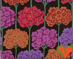 Early Kaffe Fassett Verbena Red Fabric GP61 Half Yard Extremely Rare. Retired. VHTF. OOP. by FayCarrieQAOT on Etsy