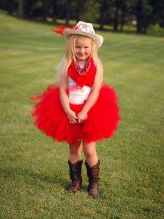 Cowgirl Halloween w tutu
