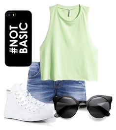 """""""cat eye sunglasses"""" by truedirectioner-belieber ❤ liked on Polyvore featuring H&M and Converse"""