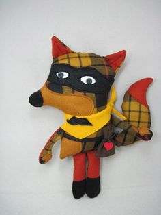 omgosh i LOVE this little plaid fox so much!!