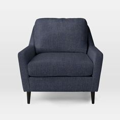 Everett Chair - pebble weave Algean blue to coordinate with sectional