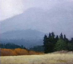 North California Mist, 6 x 7 inches, oil on panel. Marc Bohne
