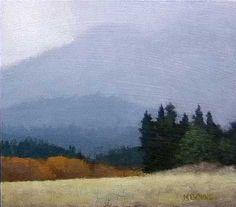 North California Mist | Marc Bohne | oil on panel.