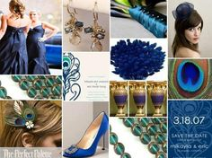 Color palette blue, teal and gold. Lovely colors!