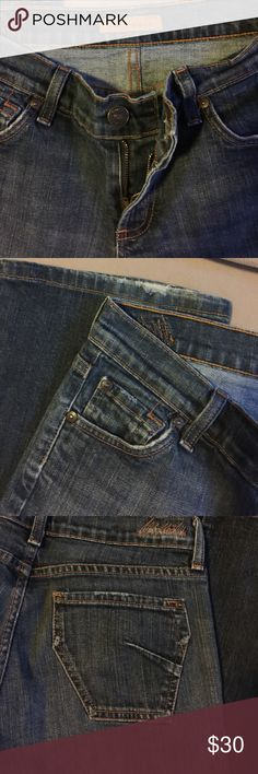 """James Bootcut jeans Excellent Bootcut jeans. Cute pockets and darker Denim. 30"""" inseam James Jeans Jeans Boot Cut"""