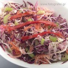 Elias Mamalakis ΠΟΛΙΤΙΚΗ ΣΑΛΑΤΑ Greek Recipes, Sweet And Salty, Salad Dressing, Gravy, Vegan Vegetarian, Cabbage, Salads, Food And Drink, Vegetables