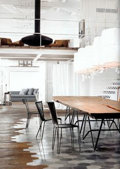 Love the tiles and how it connects with the wood - image via Splendid Objects