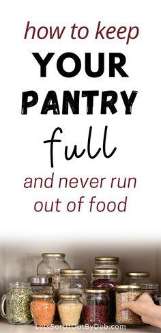 Organizing Hacks, Home Organization Hacks, Pantry Organization, Emergency Preparation, Emergency Food, Kitchen Pantry, Kitchen Hacks, Kitchen Ideas, Kitchen Decor