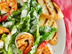 The single anchovy fillet lends umami depth to the dressing without giving it any sort of strong fishy flavor.View Recipe: Grilled Shrimp Caesar Salad