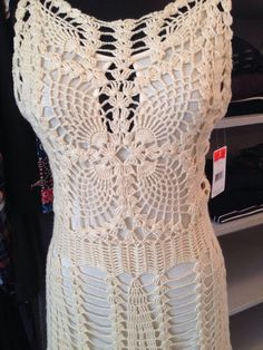 "Free People NWT "" Macrame Mini"" Dress in Ivory Combo Size Small 