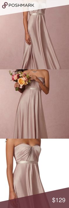 Jenny yoo 'farrah' convertible bridesmaid gown 4 We're smitten with this timeless look. A full length skirt, a sleek silhouette, and just enough small details make this beauty a go-to; not to mention the pretty hue, which coordinates with blush and nude-colored dresses beautifully. NWT size 4 dusty rose jenny yoo  Dresses Wedding
