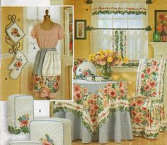 KITCHEN APPLIANCE COVERS Sewing Pattern - Oven Mitt Pot Holder ...