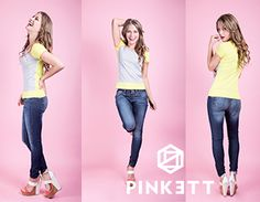 #Look de domingo combina nuestra playera sport de 3 colores con unos  jeans/ demin shorts o falda,  o pontela con unos leggins, y para los cambios de clima puedes usar una chamarra de piel! www.pinkett.com.mx