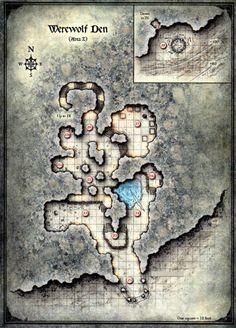 Curse of Strahd - Map of the Werewolf Den