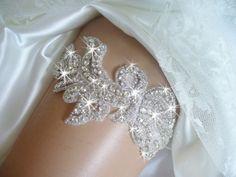 Fall Sale Price! Wedding Garter, Bridal Garter, Bridal Accessories, Rhinestone Wedding Garter Belts, Crystal Garter, Bling Garter Belt by bridalambrosia on Etsy