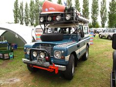 The best Land Rover at Billing 2013 by a long way. #Billing2013 #Series3 #Landrover Land Rover + everything you can think of = Awesome.